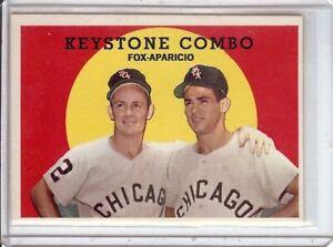 Nellie Fox Luis Aparicio 1959 Topps Keystone Combo Vintage Baseball Card #408