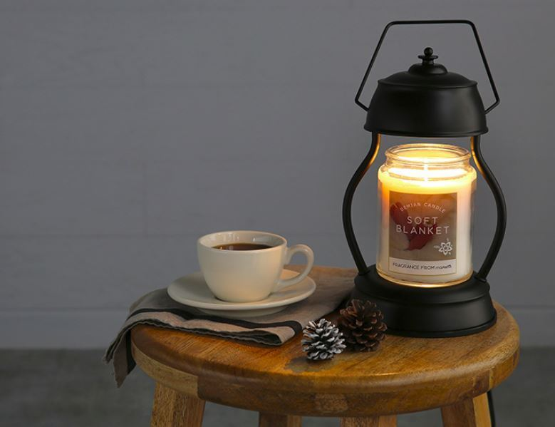 Classic Electric Candle Warmer Set With Candle, Halogen Lamp And Dial Controller
