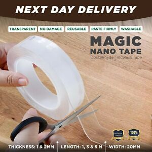 Nano-Magic-Clear-Double-Sided-Grip-Tape-Traceless-Removable-Washable-Adhesive