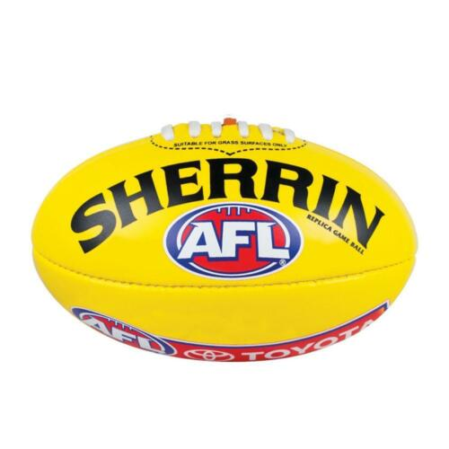 AFL Replica Game Ball Yellow Size 5 Football From Sherrin