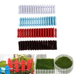 100-5cm-Miniature-Fairy-Garden-Wood-Fence-Doll-House-DIY-Accessories-Decor-AU
