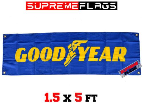 Goodyear Flag Banner Tires Tyres Car Shop Garage 18x58 in