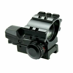 Tactical-Holographic-Reflex-Red-Green-4-Reticles-Dot-Sight-with-20mm-Rail-Mount