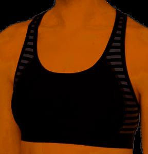 00e381681acea Sports Bra Ideology NWT  29 Small Black White Stripe Ladder Back 32A ...
