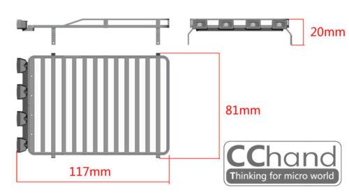 CC hand Metal Roof Rack For RC4WD GelandeⅡ 1:18 D90 Black//Red