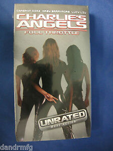 NEW-Charlie-039-s-Angels-Full-Throttle-VHS-2003-Unrated-Version-043396024199