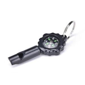Black-Mini-Survival-Tool-Pfeife-Kompass-2-in1-neue-heisse-Verkauf-1A-WH-BCDE