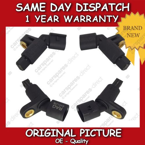 AUDI A3 1.6,1.8,1.9 ABS SENSOR COMPLETE SET ALL 4 1996/>2003 BRAND NEW