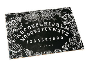 Wooden-Black-Ouija-Board-game-amp-Planchette-with-Instruction-Spirit-hunt-magick