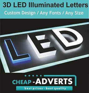 Image is loading 3D-Letter-LED-Illuminated-70cm-Custom-Designs-Shapes-