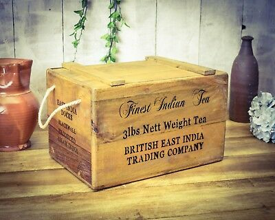 GREAT GIFT J.JONES BUTCHER A VINTAGE ANTIQUE STYLE CRATE DAD/'S ARMY BOX