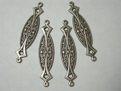 10 Raw Brass Victorian Earring Connectors Drops Dangles