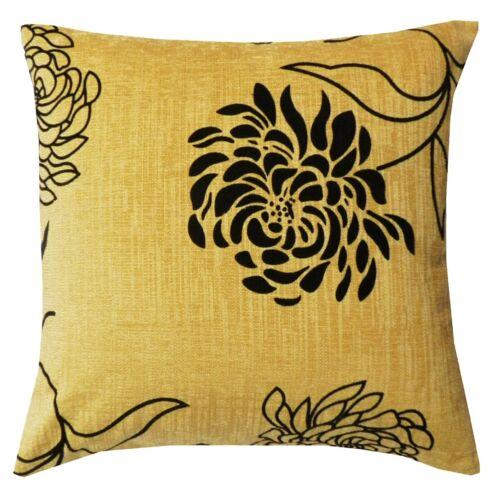 Bold Floral Coussin Chenille couvre ou rempli de coussins en 4 couleurs