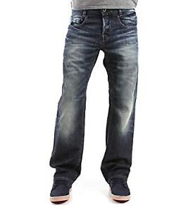 Gstar-RAW-da-uomo-3D-ARC-LOOSE-Jeans-da-Uomo-Darkwash-Denim-Affusolato-UK-Taglia-30W-32L