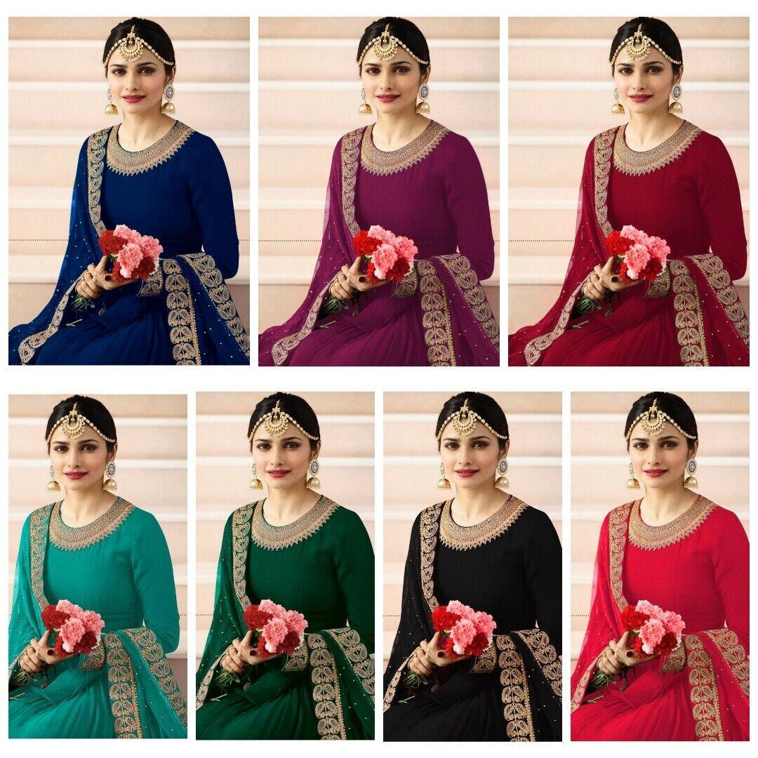 New Stylish Pakistani Eid Salwar Kameez Indian Anarkali Party wear Wedding Gown