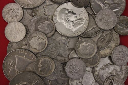 MAKE OFFER 4 Standard Ounces Ben Franklin Half Dollars Roosevelt Junk 90/% Silver
