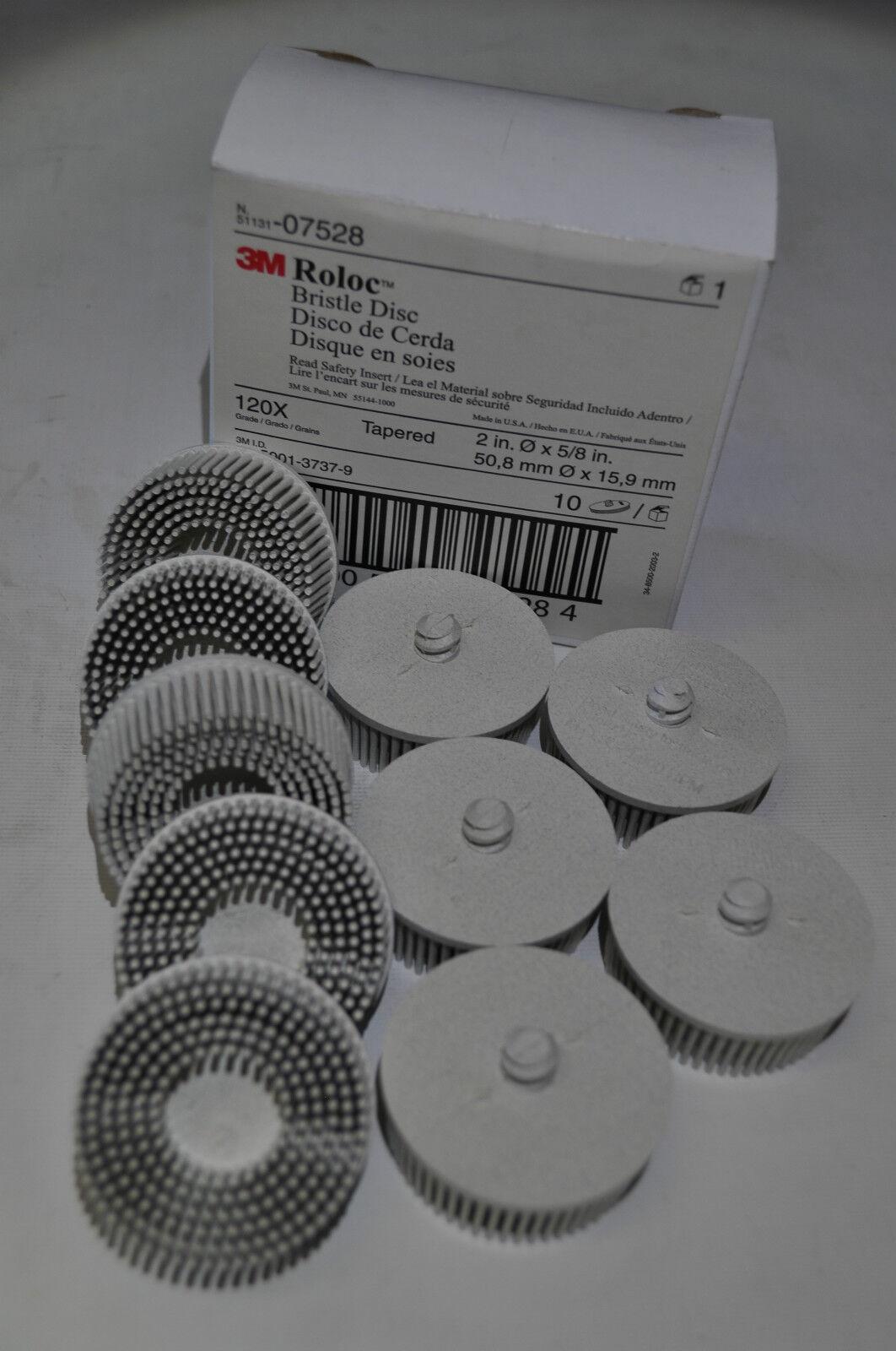 3M Scotch-Brite Bristle Disc - 2 in Dia Quick Change Attachment 120 Grit - 07528