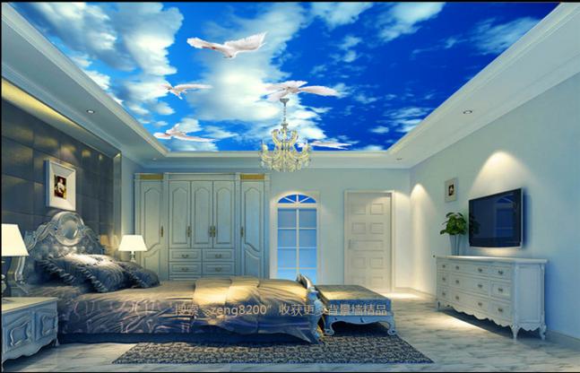3D Weiß Dove Sky 89 Ceiling WallPaper Murals Wall Print Decal Deco AJ WALLPAPER