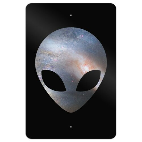 Alien Head in Space Home Business Office Sign