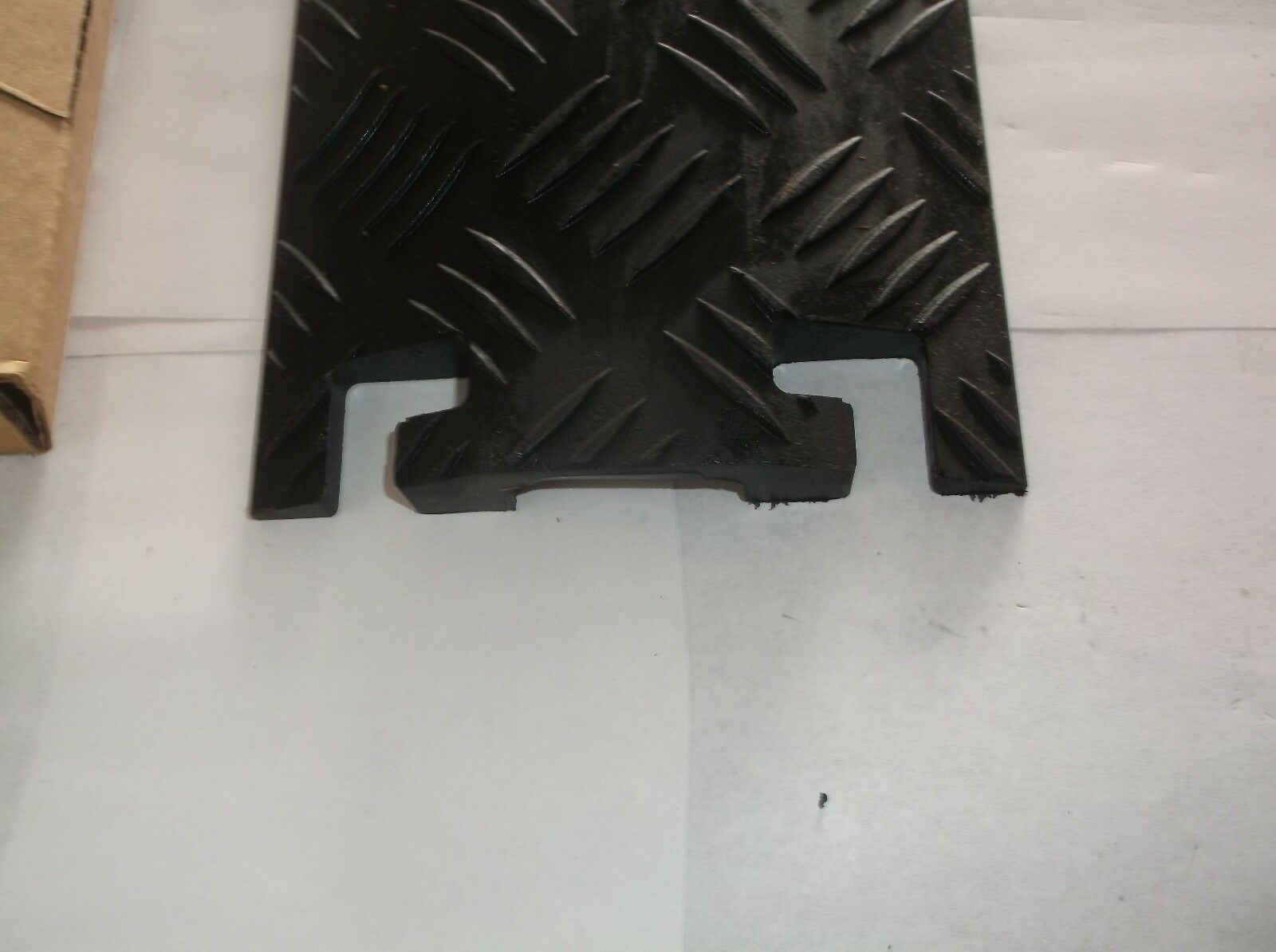 Black CHECKERS INDUSTRIAL PROD INC FL1X1.5-B Cable Protector 3 ft. I49T