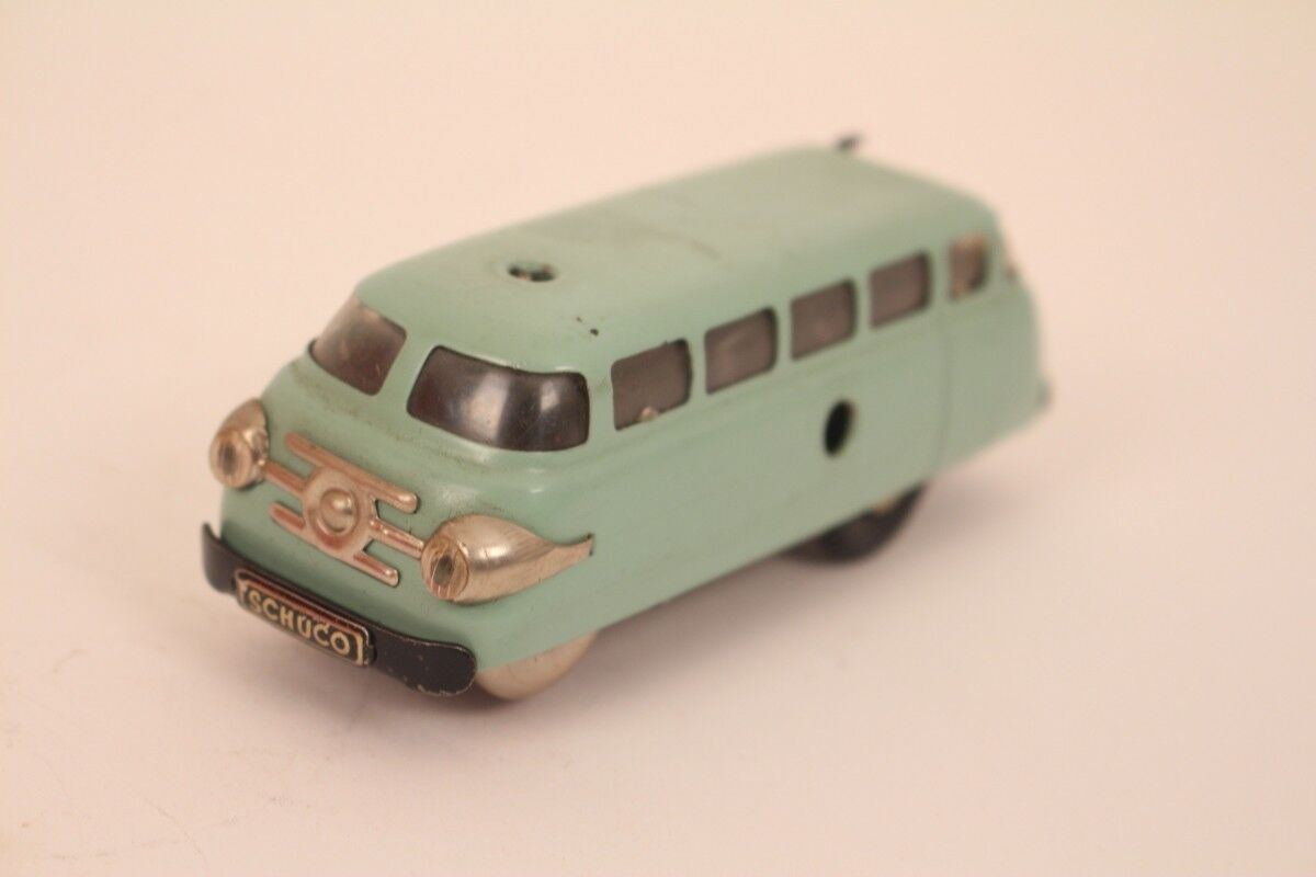 Schuco Varianto Bus 3044 Car Omnibus Light bluee Us Zone Germany Tin Toy