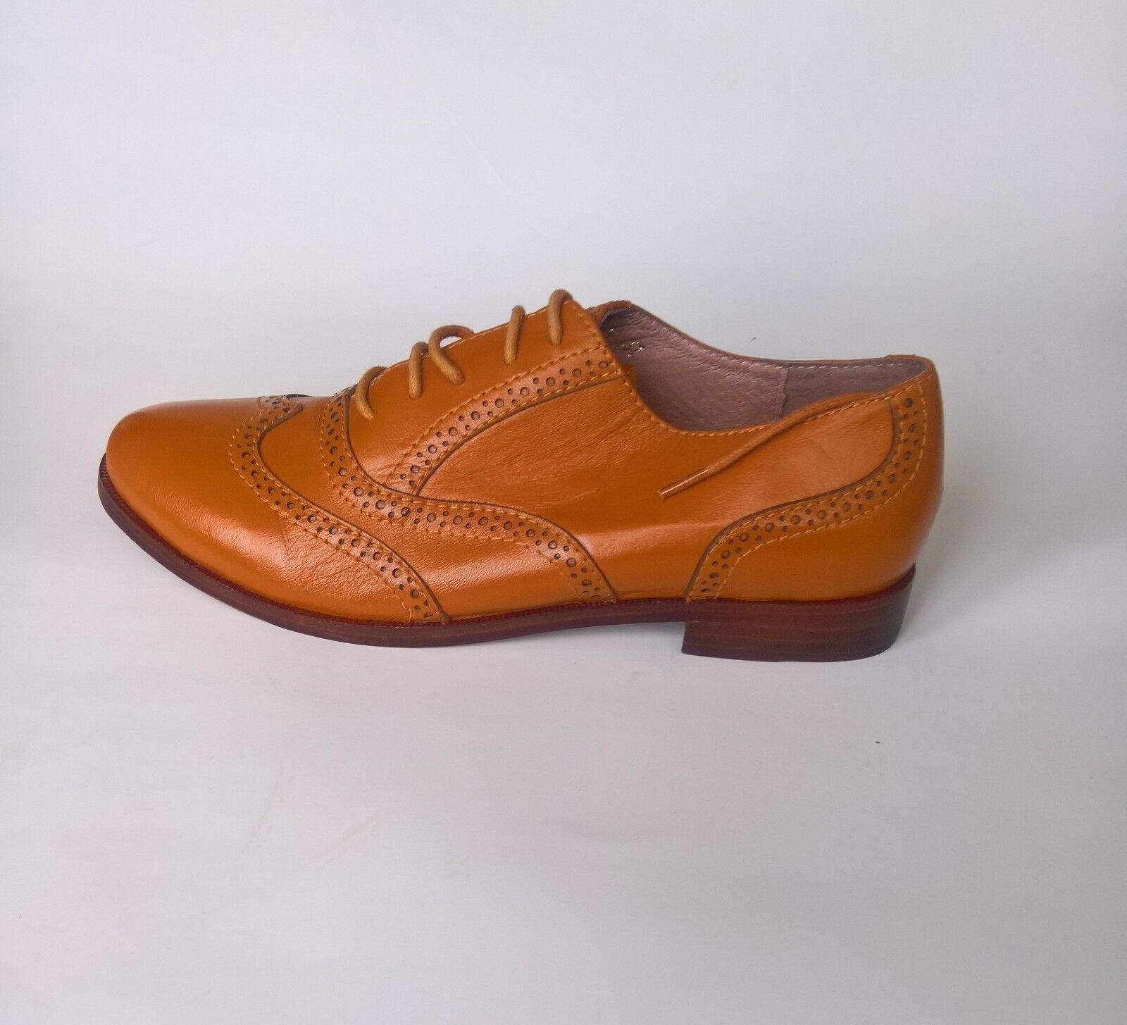 Zapatos De De De Cuero Thom marrón para mujer Wall Street Wing Tip Oxford Amarillo Talla 37  saludable