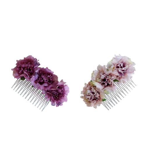 1 Stück Haarkamm mit Nelke Blumen Frauen Lady Frisur Zubehör
