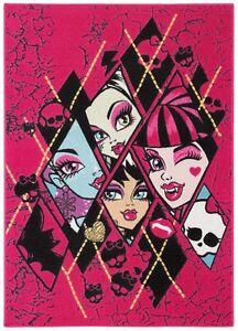 Kids-Carpet-Monster-High-black-purple-95x133
