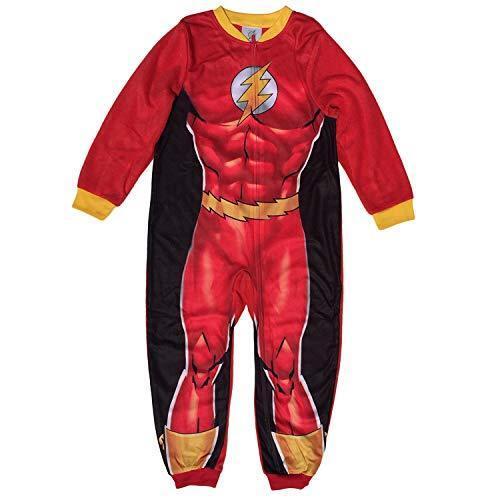 DC Comics The Flash Costume Style Boys Fleece Sleeper Pajama
