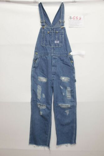 Smith Vintage Jeans D'occassion Salopette Customized S583tg Grand Code S Uxq05T