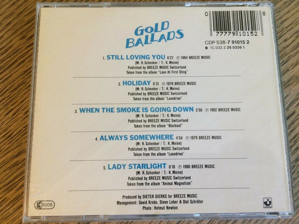Scorpions: Gold Ballads, rock