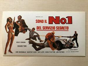 Film-fanartikel 1 Del Servizio Segreto Richard Todd Kreativ Poster Plakat Sticker 1977 Sono Il No
