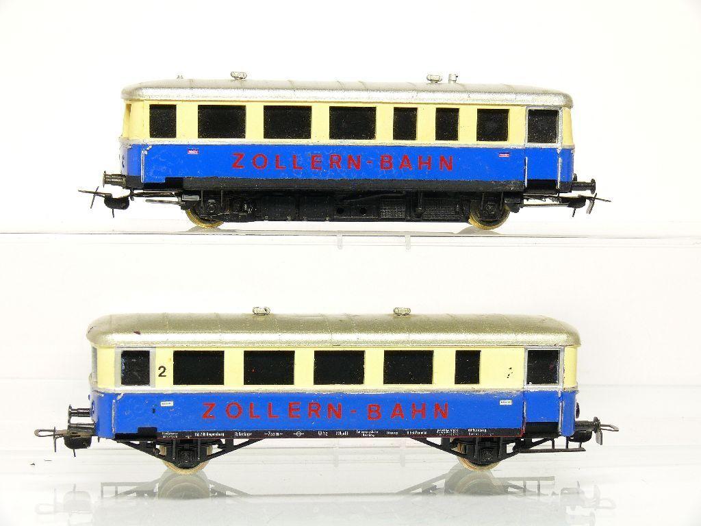 Piko H0 Automotrice Basi VT 70 Zollern Ferrovia con Carrozza con Difetti