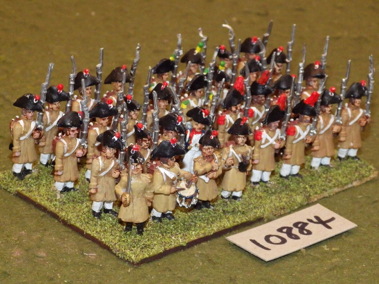 25mm napoleonic   generic - early infantry 32 figs - inf (10884)