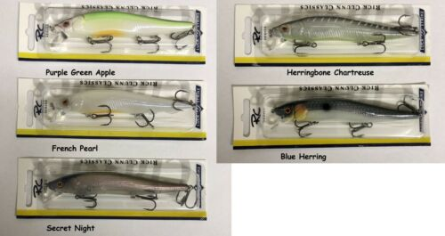 "Assorted Colors Luck E Strike 4 1//2/"" Rick Clunn RC STX Suspending Jerkbait"