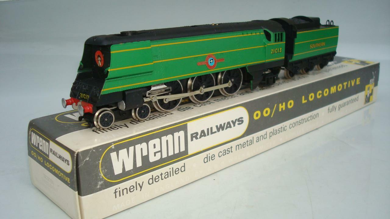 WRENN W2278A S.R.verde 4-6-2 BUILLEID PACIFIC blu FUNNEL LINE MINT PERIOD 4