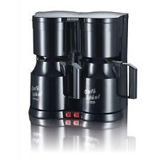 Severin KA 5828 Schwarz Duo-Filter-Kaffeemaschine zwei Isolierkannen Teefilter