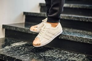 0c9b0470c2 Image is loading Adidas-Superstar-80-039-s-Off-White-Rose-