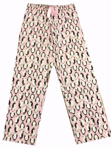 Womens Pink Penguin Print Cotton Pyjama Bottoms PJs Size 8 10 24 26