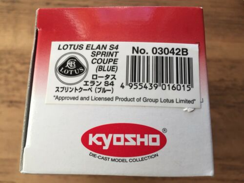 Lotus Elan S4 Sprint Coupe NEW KYOSHO 1//43 Model Blue BOXED Museum Collection