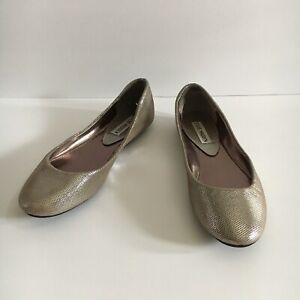 Steve-Madden-Heaven-Silver-Metallic-Women-039-s-Slip-On-Ballet-Flats-Size-7-5-M