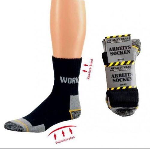 6 pares de calcetines de trabajo work con comodidad federal tamaños 39-50 negro nuevo