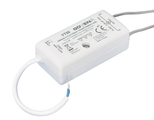 0W - 50W, Dimmable Electronic Transformer YT50 for LV-Halogen & 12Vac LED lights