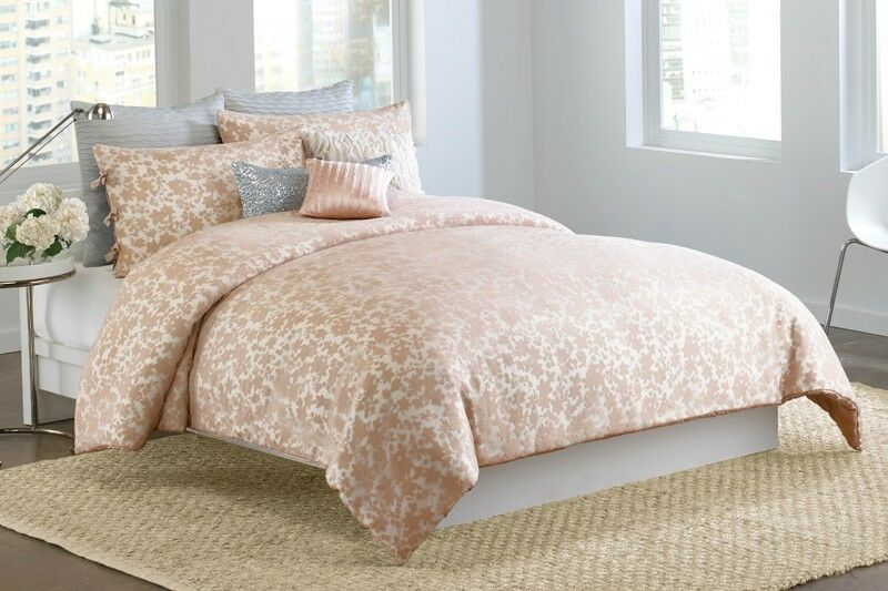 Light Pink And Gold Bedding: 3-Pc DKNY Sweet Escape Queen Comforter Set Blush Pink