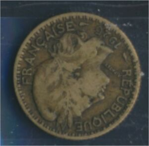 Togo-2-1925-sehr-schoen-Aluminium-Bronze-1925-1-Franc-Laureate-8977181