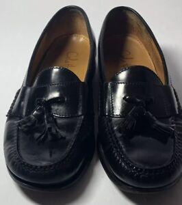 d978bbcedd9 COLE HAAN Men s Black Leather Pinch Tassel Loafers 03506 Slip On ...