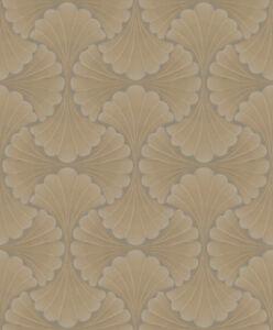 Tapete-Designtapete-VLIES-Praegung-Glanz-Honig-Schlamm-Sand-Taupe
