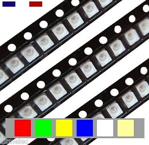 Led-CMS-Superbright-3528-2pins-20-50-60-100-120Pcs-6-Couleurs-au-choix