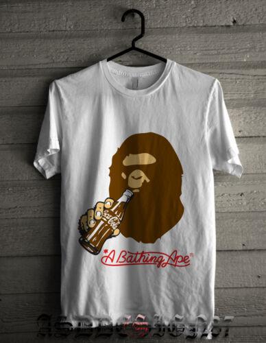 Mens A Bathing Ape X Collaboration white t-shirt Bape size S 2XL