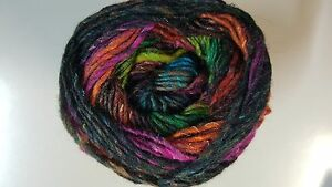 Noro-Silk-Garden-Sock-Yarn-S211-Turquoise-Orange-Fuchsia-Black-100g
